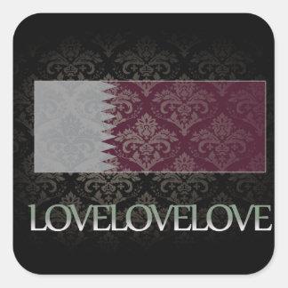 I love Qatar Cool Square Sticker
