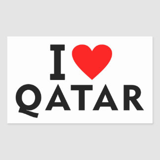I love Qatar country like heart travel tourism Sticker