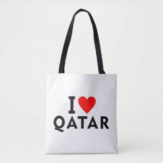 I love Qatar country like heart travel tourism Tote Bag