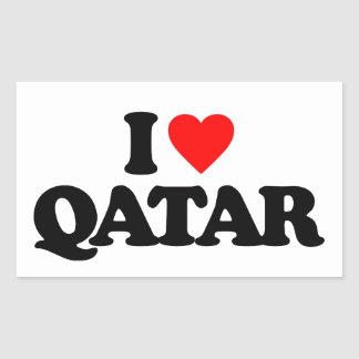 I LOVE QATAR STICKER