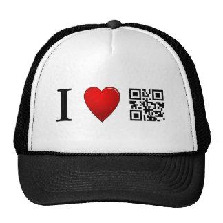 I Love QR Code Hat Template