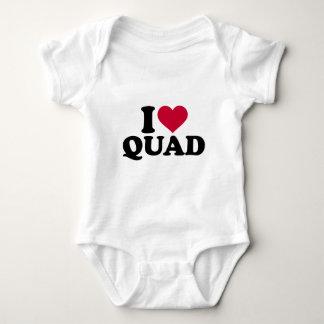 I love Quad Baby Bodysuit