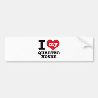 I Love quarter Horse Bumper Sticker