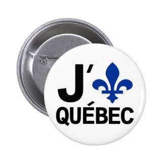 I Love Quebec 2 Inch Round Button