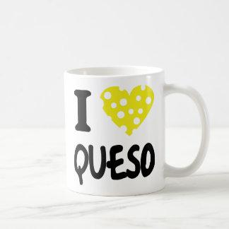 I love queso icon classic white coffee mug