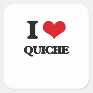 I Love Quiche Square Sticker