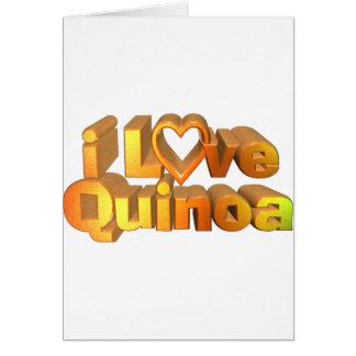 I Love Quinoa on many products Card