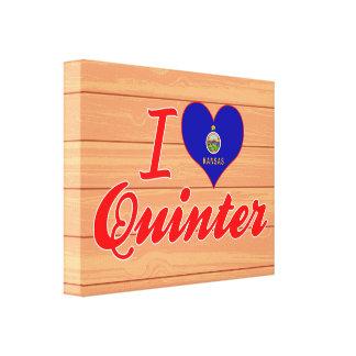 I Love Quinter, Kansas Stretched Canvas Prints
