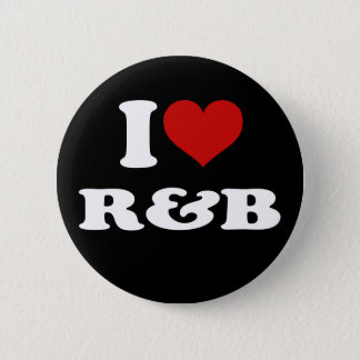 I Love R&B 2 Inch Round Button