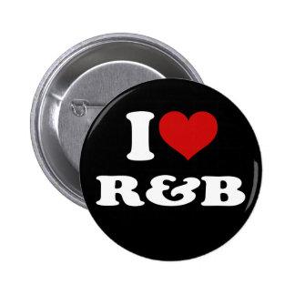 I Love R&B 2 Inch Round Button