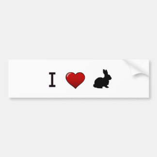 """I Love Rabbits"" Bumper Sticker"