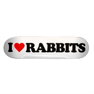 I LOVE RABBITS CUSTOM SKATE BOARD