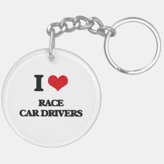 I love Race Car Drivers Keychain