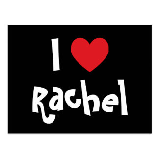 I Love Rachel Postcard