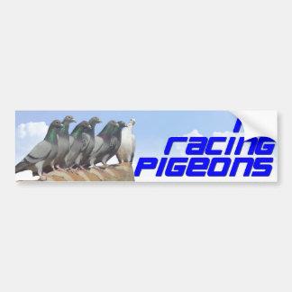 I love racing pigeons bumper sticker