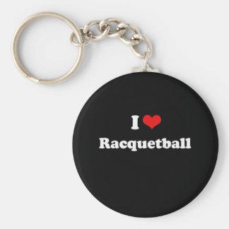 I Love Racquetball Tshirt Keychain