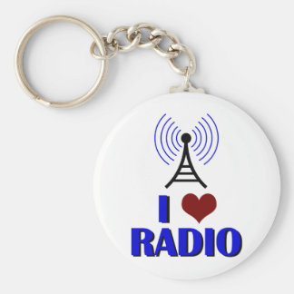 I Love Radio Keychain