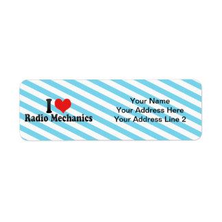 I Love Radio Mechanics Custom Return Address Labels