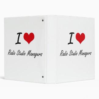 I love Radio Studio Managers 3 Ring Binder