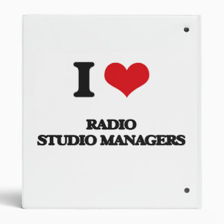I love Radio Studio Managers Binders