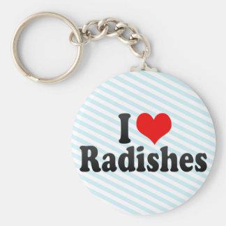 I Love Radishes Keychain