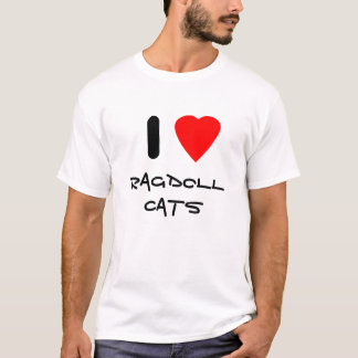 I love Ragdoll cats T-Shirt