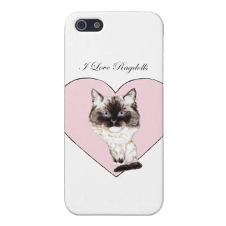 I Love Ragdolls Case For The iPhone 5