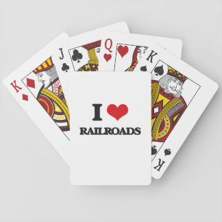 I Love Railroads Playing Cards