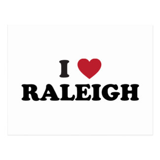 I Love Raleigh North Carolina Postcard