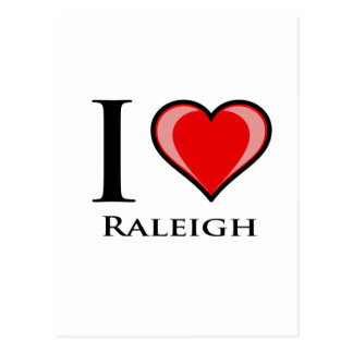I Love Raleigh Postcard