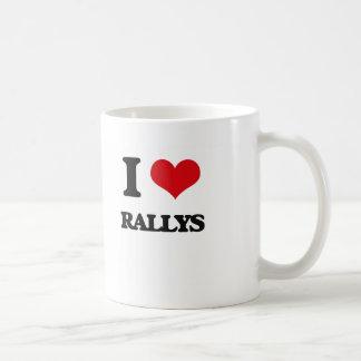 I Love Rallys Coffee Mug