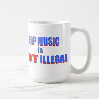 I Love Rap / Rap Music is NOT ILLEGAL! Basic White Mug