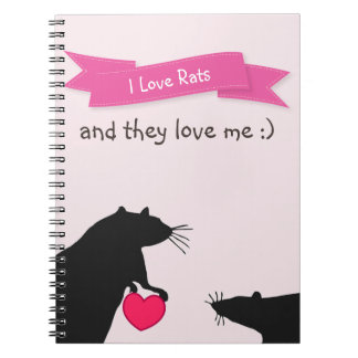 I Love Rats and They Love Me Spiral Notebook
