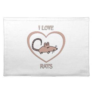 I Love Rats Placemat