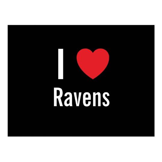 I love Ravens Postcard