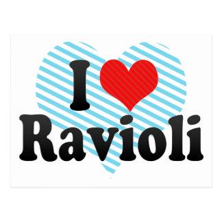I Love Ravioli Postcard