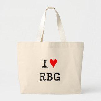 i love rbg large tote bag