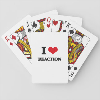 I Love Reaction Playing Cards