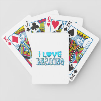 I Love Reading Bicycle Playing Cards