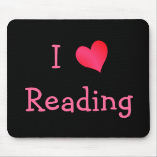 I Love Reading Mouse Pad