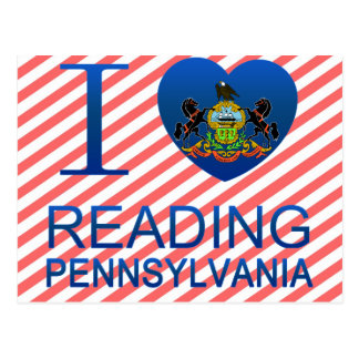 I Love Reading, PA Postcard