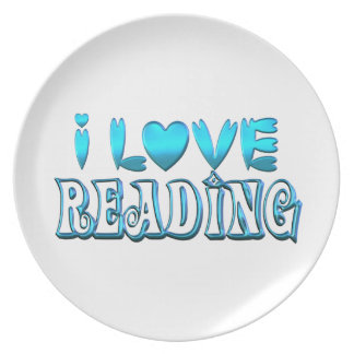 I Love Reading Plate