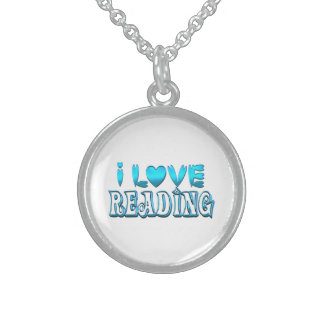 I Love Reading Sterling Silver Necklace