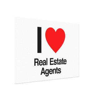 i love real estate agents canvas print