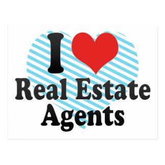 I Love Real Estate Agents Postcards