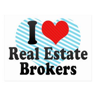 I Love Real Estate Brokers Post Card