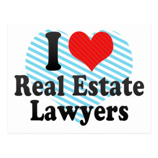 I Love Real Estate Lawyers Post Card