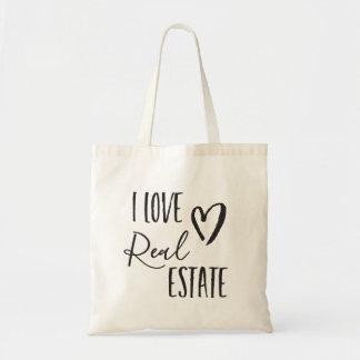 I Love Real Estate Realtor Tote Bag