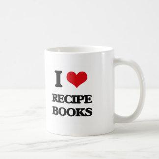 I Love Recipe Books Basic White Mug