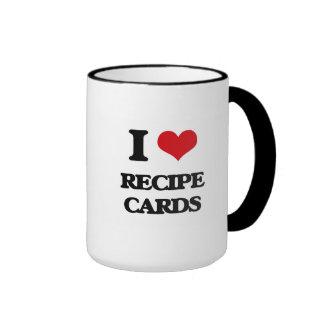 I Love Recipe Cards Ringer Mug